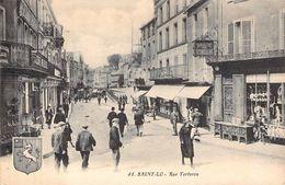 C P A  50] Manche > Saint Lo Rue Torteron   Carte Animée - Saint Lo