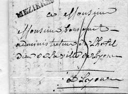 """Linéaire """"MEZIERES"""",correspondance De """"RENWEZ"""" - Marcofilie (Brieven)"""