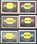 1575 - Italie - Lot 6 étiquettes De Liqueurs - Distilleria Stabilimento Enologico La Toscana Ind. Riunite, Firenze - Etiquettes