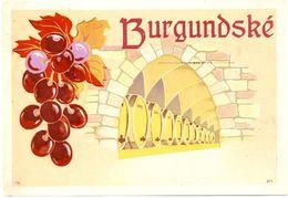 1581 - Tchéquie - Vin Burgunsdské - Etiquettes