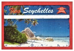 "SEYCHELLES: SEY-35 ""Beach"" CN: 605L. In Hard Used Condition - Seychelles"