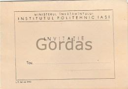 Romania - Iasi - Institutul Politehnic - Invitatie - 1967 - Announcements