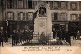 92 ..SURESNES .. STATUE D'EMILE ZOLA .. MAURICE LAGESSE ARCHITECTE .. BUSTE DE E. DERRE ... 1917 - Suresnes