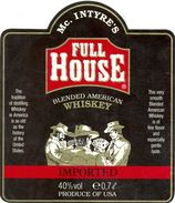 1596 - Etats Unis - Full House - Mc. Intyre's - Blended American Whiskey - Produce Of U.S.A. - Whisky
