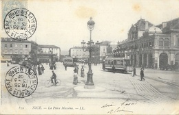 Nice - Place Masséna, Tramway - Carte LL N° 859 - Plazas