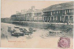 CPA SINGAPORE SINGAPOUR Collyer Quay Timbre Stamp 1904 - Singapour