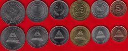 Nicaragua Set Of 6 Coins: 5 Centavos - 5 Cordobas 2002-2007 UNC - Nicaragua