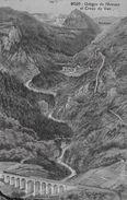 GORGES DE L'AREUSE → Panoramakarte Et Creux Du Van Anno 1909 - NE Neuenburg