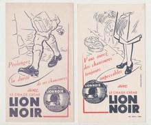 BUVARD LION NOIR Cirage-crème LOT DE 2 BUVARDS - Shoes
