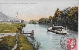 LANDERON → Canal De La Thièle Avec Bateau Anno 1908 - NE Neuenburg