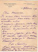 VP11.751 - Noblesse - LAS - Lettre De Mme La Contesse F. STACKELBERG à L' Hôtel Continental De PARIS - Autographs