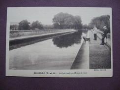 LOT De 2 CPA 82 MOISSAC Pont Canal Vers Ecluse De Cocor & Promenade Du Moulin Et Pont Napoléon SEPIA ANIMEES - Moissac