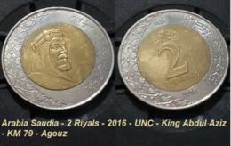 Arabia Saudia - 2 Riyals - 2016 - UNC - King Abdul Aziz - KM 79 - Agouz - Saudi Arabia