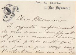 VP11.753 - Noblesse - CLAS - Carte - Lettre De Mr Le Duc De POMAR ( Grand'Espagne ) à PARIS - Autographs