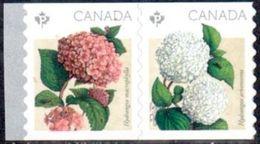 Canada Paire Roulette Hydrangées ** - 2016 - Roulettes