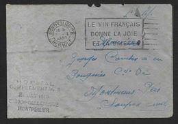 Hérault  - Hopital Complémentaire St Roch Delleneuve  MONTPELLIER  1940 - Marcophilie (Lettres)