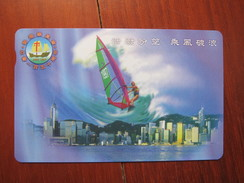 Limited Issued Autelca Phonecard,windsurf-the 150 Anni. Of Tsung Tsin Mission In HK,mint With Folder And Envelope - Hong Kong