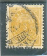 1882 ISLANDE  Y & T N° 12A ( O ) 3a - Oblitérés