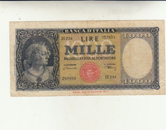 Lire Mille Banca D'Italia Medusa Ornata, Buona Conservazione Integra. Dec. 1948 - [ 2] 1946-… : Républic
