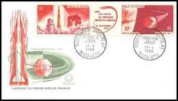 4851/ Espace (space Raumfahrt) Lettre (cover Briefe) 17/1/1966 FDC 25A Fusée Diamant Satellite A1 Wallis-et-Futuna - Covers & Documents