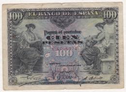 El Banco De Espana 100 Pesetas Du 30 . 6 . 1906. Alphabet C 3708274 .Rare - [ 1] …-1931 : Premiers Billets (Banco De España)