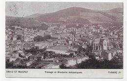 (RECTO / VERSO) TARARE EN 1905 - TISSAGE ET BRODERIE MECANIQUES - DAVID ET MAIGRET - BEAU CACHET - CPA VOYAGEE - Tarare