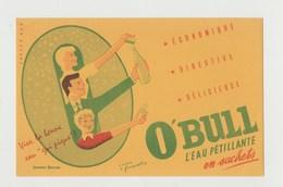 BUVARD O'BULL L' Eau Pétillante En Sachets - Buvards, Protège-cahiers Illustrés