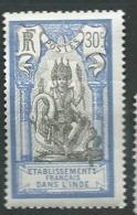 Inde Française  - Yvert N° 34  *    -  Ah24515 - India (1892-1954)