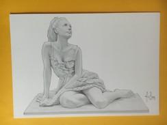 171264- Etude Pour Une Statuette  Carte De Membre Novembre_décembre 1991 CPC - Aslan