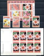 TANZANIA 1986 Flowers - Sc.315-319 Compl. + Block + 4 Sheets (compl.) All MNH (VF) - Tansania (1964-...)
