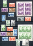 US 1934 Sheets 750+751 (Mi.Bl.4+5, Yv.Bl.3+4) And Stamps (MNH-MH-MNG) All VF - Stati Uniti
