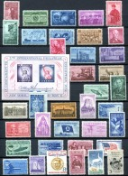 US 1955-57 Compl. - Sc.1064-1099+C49+FA1 (Mi.688-722) MNH (postfrisch) VF - Stati Uniti