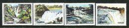 Zambia 1993 Waterfalls Set HM (SG 717-20) - Zambia (1965-...)