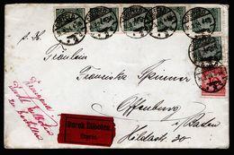 A5011) DR Expressbrief Von Crefeld 31.3.24 Nach Offenburg - Deutschland