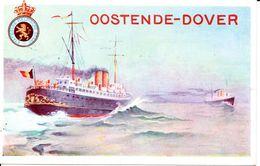 SIX CARTES PRE AFFRANCHIES OSTENDE - DOUVRE /  ZES VOORAFBETAALDEKAARTEN OOSTENDE - DOVER (voir - Zie Scans) - Bootkaarten