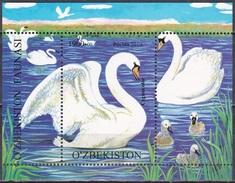 Usbekistan Uzbekistan 2010 Tiere Animals Fauna Vögel Birds Schwan Schwäne Swans, Bl. 54 ** - Uzbekistan