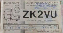 QSL RADIO AMATEUR CARD- NIUE ISLANDS - Radio Amateur