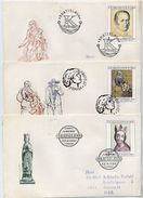 CZECHOSLOVAKIA 1980 National Gallery Paintings On 5 FDCs.  Michel 2590-94 - FDC
