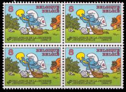 Belgium 2150** X 4  Schtroumpf  MNH - Belgique