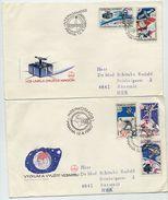 CZECHOSLOVAKIA 1980 Intercosmos Programme On 2 FDCs.  Michel 2558-62 - FDC