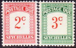 SEYCHELLES 1964 SG #D9-D10 Compl.set MNH Wmk Mult Block CA Postage Due - Seychelles (...-1976)