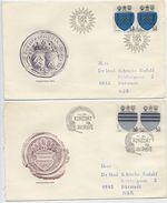 CZECHOSLOVAKIA 1980 Town Arms On 4 FDCs.  Michel 2552-55 - FDC