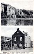 NAMUR - LIVES SUR MEUSE - BRUMAGNE : Vue Sur Les Rochers Et Maison Communale Avec L'untrée Du Camp - Belgio