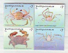Philippines -  2008 Crabs 4v Mnh - Filippine