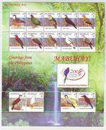 """Philippines -2008 Birds - International Stamp Exhibition TAIPEI 2008 - Year """"2008"""" On Stamps S/s Mnh - Filippijnen"""