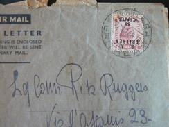 1950.FLY FROM ASMARA TO ROME.+ POSTAGESTAMP +++///.FRONTESPIZIO LETTERA VIAGGIATA DA ASMARA PER L'ITALIA + BOLLO +++ - Eritrea