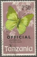 Tanzania - 1973 Butterfly Official 2.50s Used   SG O48  Sc O25 - Tansania (1964-...)