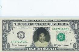 BILLET 1 Dollar Americain Vrais Billet   Mickael Jackson - EURO