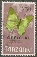 Tanzania - 1973 Butterfly Official 2.50s Used   SG O48  Sc O25 - Tanzania (1964-...)