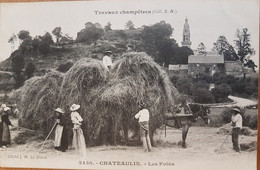 Chateaulin.les Foins.moisson.attelage De Cheval.édition Hamonic - Châteaulin